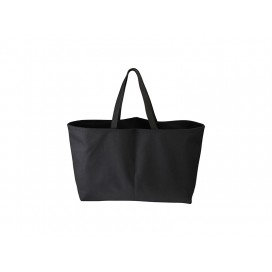 Canvas Tote Bag (Big, Black) (10/pack)