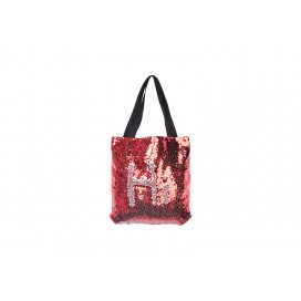 Sequin Double Layer Tote Bag(Red/Silver) (10/pack)