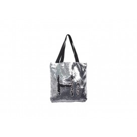 Sequin Double Layer Tote Bag(Silver/Black) (10/pack)