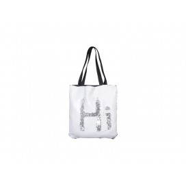 Sequin Double Layer Tote Bag (White/Silver) (10/pack)