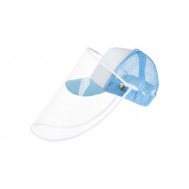 Sublimation Kids Cap w/o Removable Face Shield (Light Blue) (10/pack)