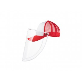 Sublimation Adult Mesh Cap w/o Removable Face Shield (Red) (10/pack)
