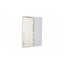 A5 Sequin Notebook(Gold W/ White) (10/pack)