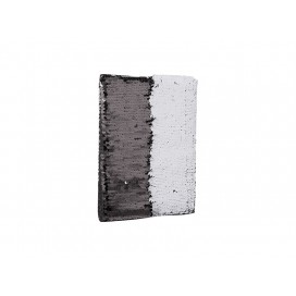 A5 Sequin Notebook(White W/Black) (10/pack)