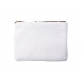 Blended Plush Pencil/ Makeup Case(White /White) (10/pack)
