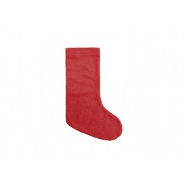 Blended Plush Christmas Stocking(Red/White) (10/pack)