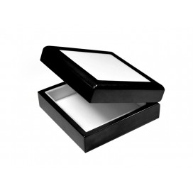 "Jewelry Box w/ Ceramic tile(4""x4"",Black)(10/pack)"