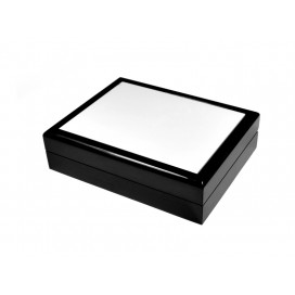 Jewelry Box without Ceramic Tile (6*8, Black) (10/pack)