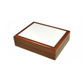 Jewelry Box without Ceramic Tile (6*8, Brown) (10/pack)