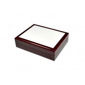 Jewelry Box without Ceramic Tile (6*8, Maroon) (10/pack)