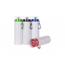 28oz/850ml Sublimation Aluminum Bottle w / Color Lid (White) (10/pack)