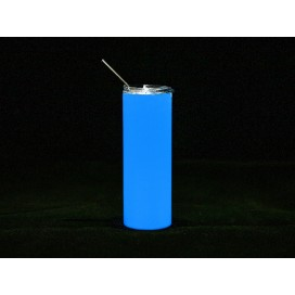 20oz/600ml Sublimation Blank Luminous Stainless Steel Skinny Tumbler (White to Blue) (10/pack)