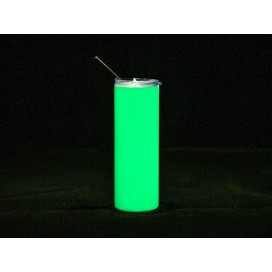 20oz/600ml Sublimation Blank Luminous Stainless Steel Skinny Tumbler (White to Green) (10/pack)