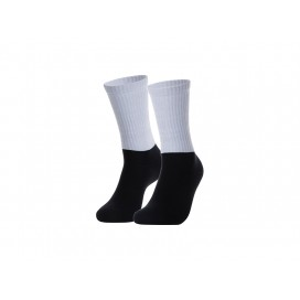Sublimation Silver Silk Glitter Athletic Socks (Black Sole) (10/pack)
