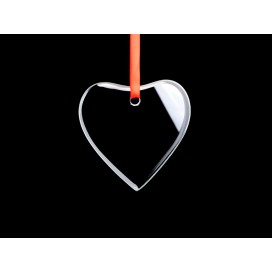 "3"" Glass Ornament (Heart, Engravable) (10/pack)"