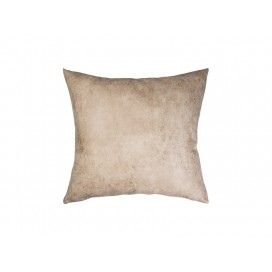 Sublimation Leathaire Pillow Cover (40*40cm, Brown)(10/pack)