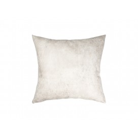 Sublimation Leathaire Pillow Cover (40*40cm, Gray White)(10/pack)